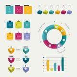 Colección de elementos infographic planos coloridos Formas del negocio libre illustration