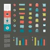 Colección de elementos infographic planos modernos. stock de ilustración