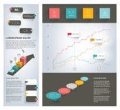Colección de elementos planos del infographics stock de ilustración