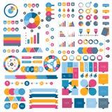Colección de elementos planos del infographics libre illustration