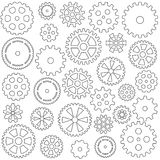 Colección de engranajes ilustración del vector