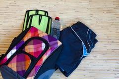 Colección de equipo de la natación Foto de archivo libre de regalías