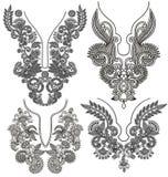 Colección de escote floral ornamental Imagen de archivo