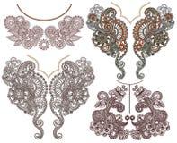 Colección de escote floral ornamental Foto de archivo