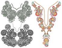 Colección de escote floral ornamental Imagenes de archivo