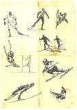 Colección de esquí alpestre Imagen de archivo libre de regalías