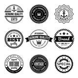 Colección de etiquetas con diseño diseñado vintage retro Fotografía de archivo