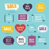Colección de etiquetas engomadas superiores de la venta del promo Imagen de archivo libre de regalías