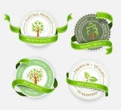 Colección de etiquetas engomadas verdes