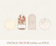 Colección de etiquetas lindas Imagen de archivo