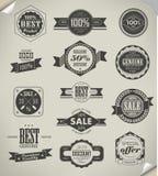 Colección de etiquetas superiores de la calidad Imagenes de archivo