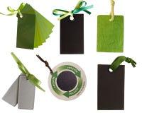 Colección de etiquetas verdes, Fotos de archivo