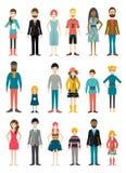 Colección de figuras planas de la gente Diverso período de la edad libre illustration
