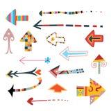 Colección de flechas decorativas stock de ilustración