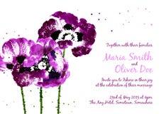 Colección de flores de la amapola de la acuarela libre illustration
