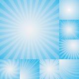 Colección de fondo azul claro de la explosión de color stock de ilustración