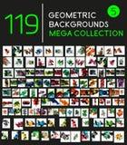 Colección de fondos geométricos de la forma Fotos de archivo libres de regalías