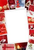 Colección de fotos de la Navidad foto de archivo libre de regalías