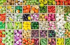 Colección de fruta y vagetable Imágenes de archivo libres de regalías