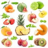 Colección de frutas fotos de archivo