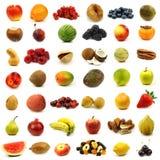 Colección de frutas y de tuercas frescas y coloridas Imagen de archivo libre de regalías