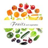 Colección de frutas y verdura Fotos de archivo libres de regalías