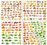 Colección de frutas y verduras aisladas Fotos de archivo