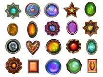 Colección de gemas stock de ilustración