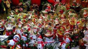 Colección de globos de la nieve de la Navidad Fotografía de archivo