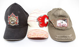 Colección de gorras de béisbol imagen de archivo libre de regalías