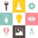 Colección de gráficos del icono del negocio Fotos de archivo libres de regalías