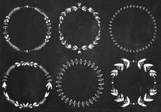 Colección de guirnaldas del laurel de la tiza Foto de archivo