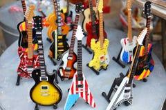 Colección de guitarras eléctricas Imagenes de archivo