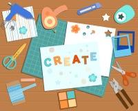 Colección de herramientas scrapbooking libre illustration