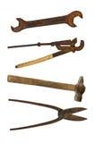 Colección de herramientas viejas Imagen de archivo