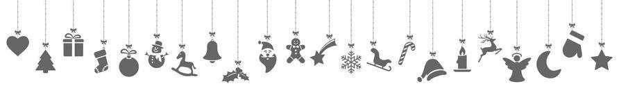 colección de iconos colgantes de la Navidad ilustración del vector