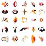Colección de iconos de la insignia de la identidad y de la marca de fábrica del asunto Imágenes de archivo libres de regalías