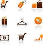 Colección de iconos de las compras libre illustration