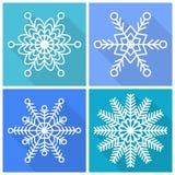 Colección de iconos de los copos de nieve stock de ilustración