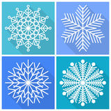 Colección de iconos de los copos de nieve imagen de archivo