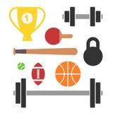 Colección de 10 iconos del deporte Foto de archivo libre de regalías