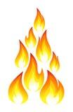 Colección de iconos del fuego Imagen de archivo