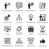 Colección de iconos del negocio - sistema 2 Foto de archivo libre de regalías