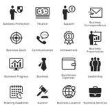 Colección de iconos del negocio - sistema 4 Imágenes de archivo libres de regalías