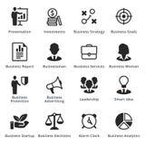Colección de iconos del negocio - sistema 3 Foto de archivo libre de regalías