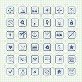 Colección de iconos del viaje del vector Fotografía de archivo