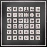 Colección de iconos, elementos del diseño web Fotos de archivo