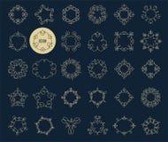 Colección de iconos geométricos abstractos, elementos stock de ilustración