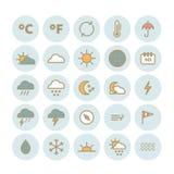 Colección de iconos lineares del tiempo del vector Imagenes de archivo