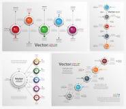 Colección de infographic colorido libre illustration